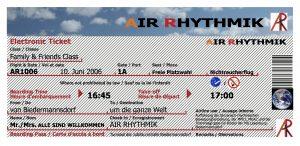 Plakat Air Rhythmik Biedermannsdorf - Layout Flugticket