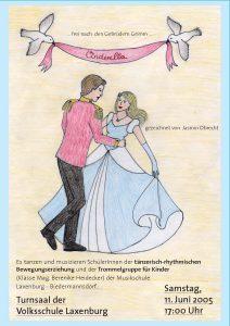 Plakat Cinderella - Prinz und Prinzessin tanzen