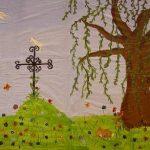 Kulissenmalen Cinderella 2005 - Bild 3 - Grab der Mutter mit Baum
