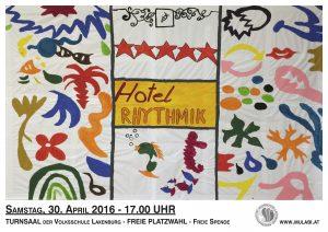 Plakat Logo Hotel Rhythmik