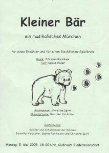 Plakat Kleiner Baer