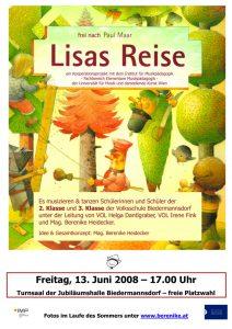 Plakat Lisas Reise _ Uniprojekt 2008