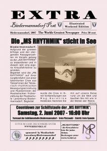 Plakat MS Rhythmik Biedermannsdorf - Layout Zeitungsartikel