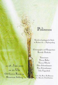 Plakat Polinesos - Bild: Korkenzieherpflanze vor grünem Hintergrund